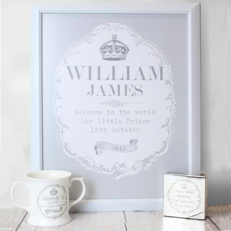 Personalised Royal Crown Print