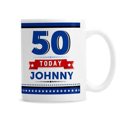 Personalised 50th Birthday Star Mug
