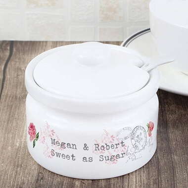Personalised Rose Sugar Pot