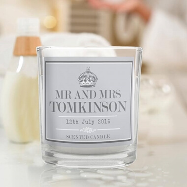 Personalised Royal Crown Scented Candle