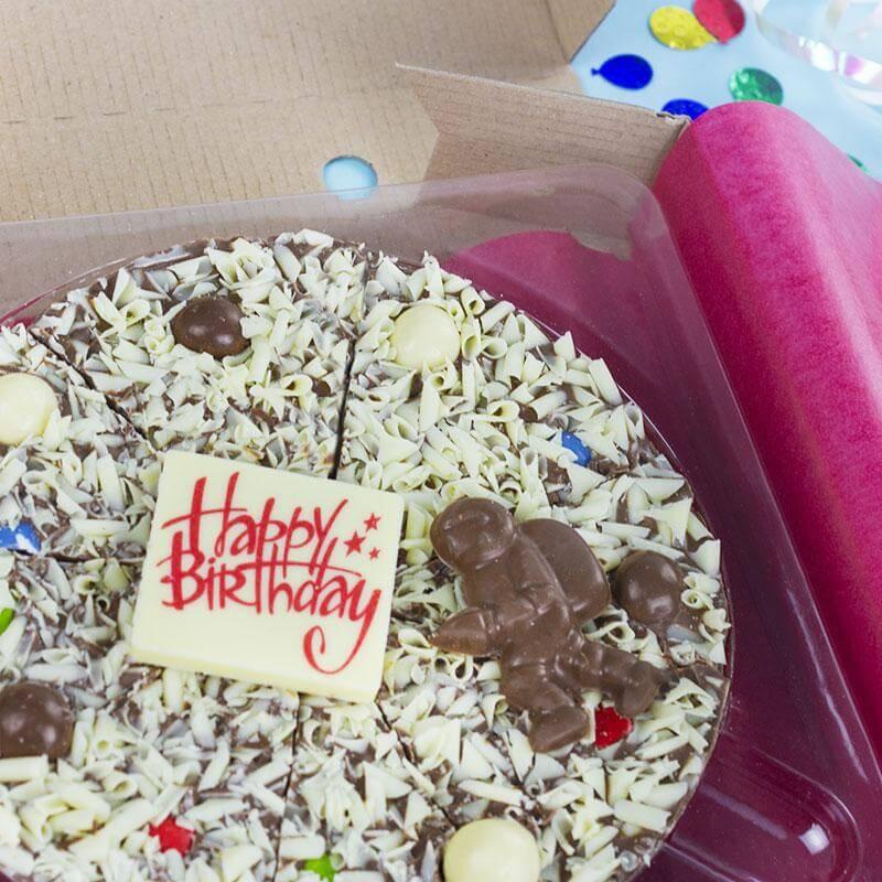 Happy Birthday Chocolate Pizza - For Him