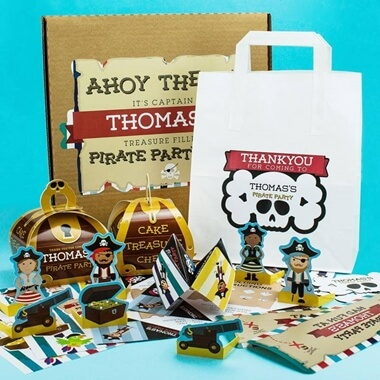 Personalised Pirate Party Bag Pack