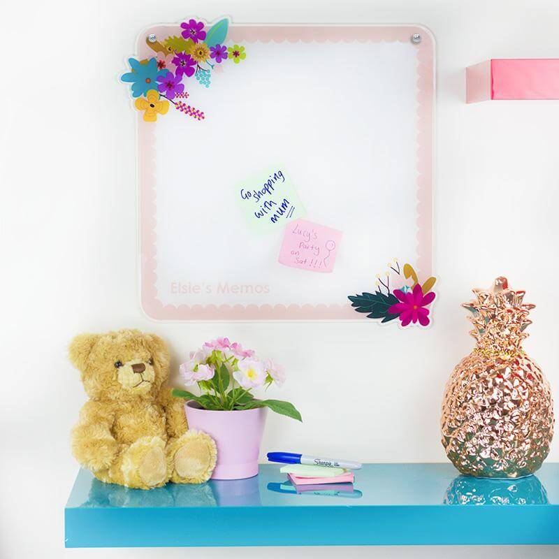 Personalised Floral Memo Board