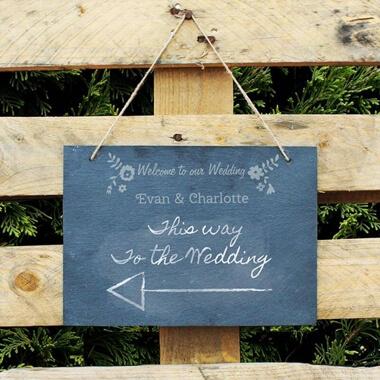 Personalised Wedding Slate Sign