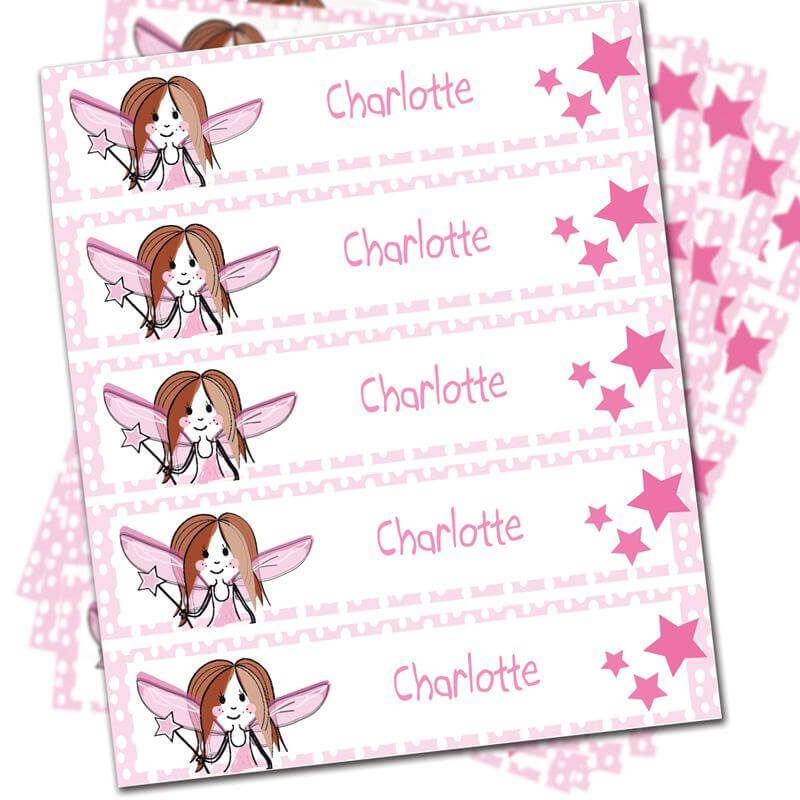 Personalised Fairy Iron On Labels