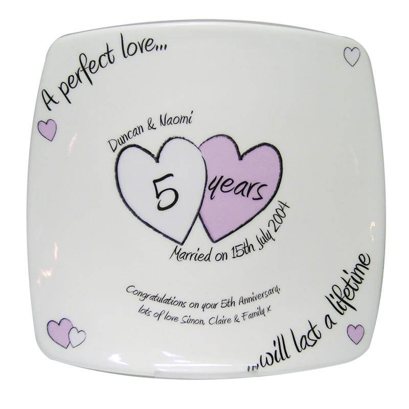 Personalised Anniversary Plate