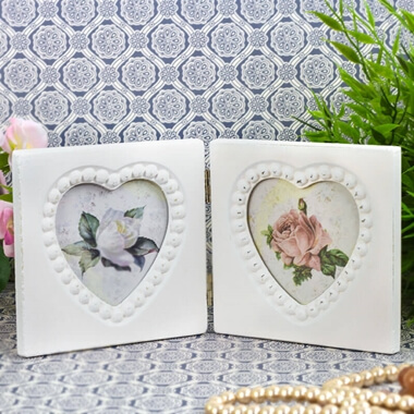 Double Heart Photo Frame