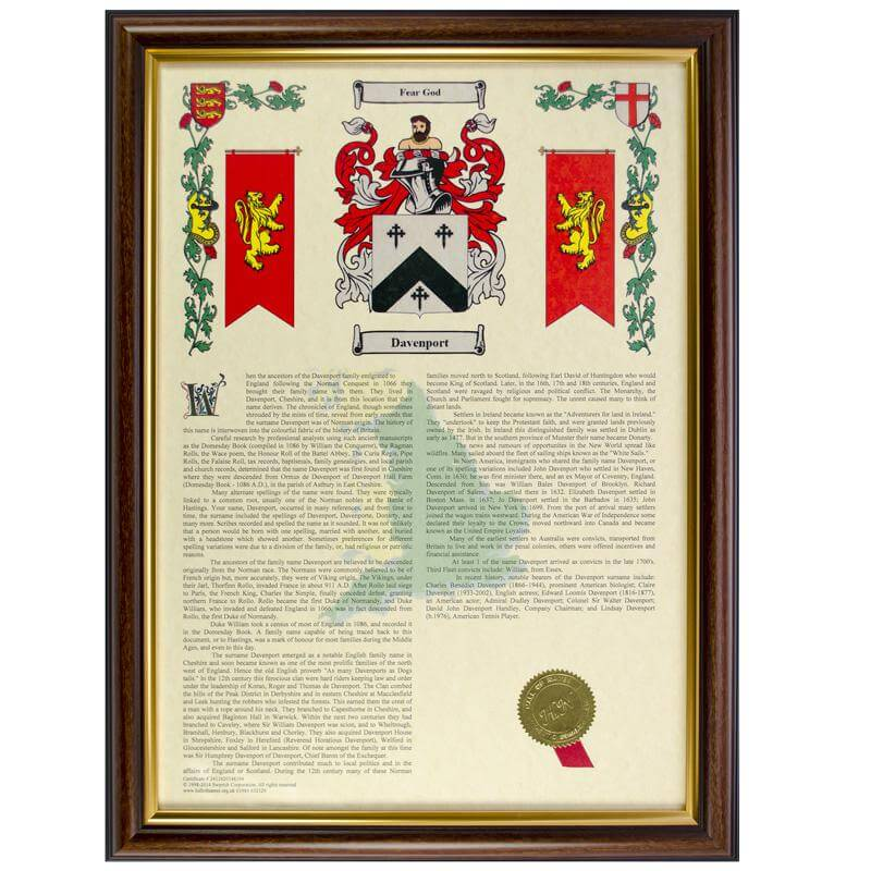 Personalised Coat Of Arms & Surname History
