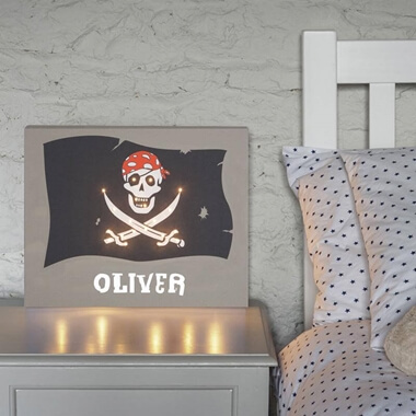 Personalised Pirate Canvas