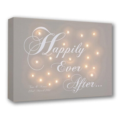Personalised Happily Ever After Canvas