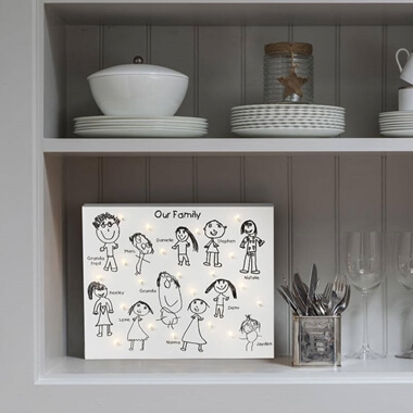 Personalised Children's Drawing Canvas