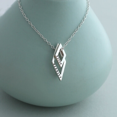 Personalised Baby Names Geometric Necklace