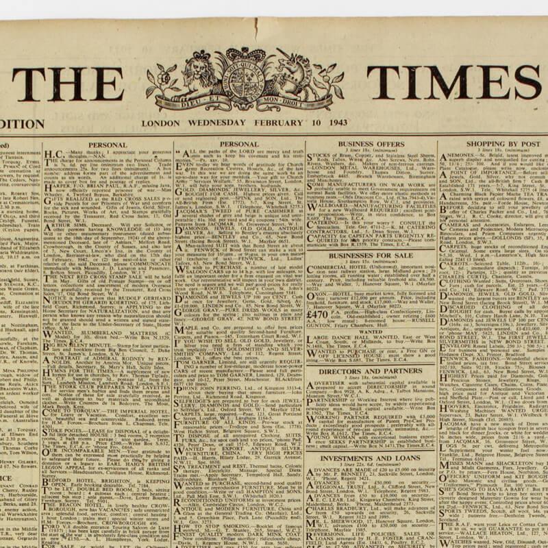 Original Newspaper 60th Birthday in a Gift Box