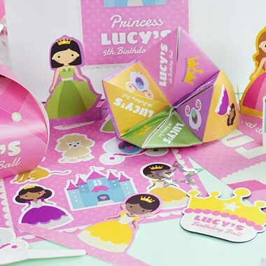 Personalised Princess Party Bag Pack