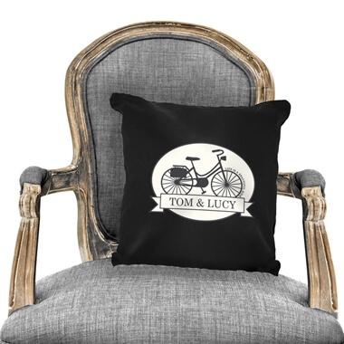 Personalised Vintage Bike Cushion Cover