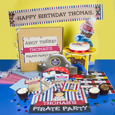 Personalised Pirate Party Pack