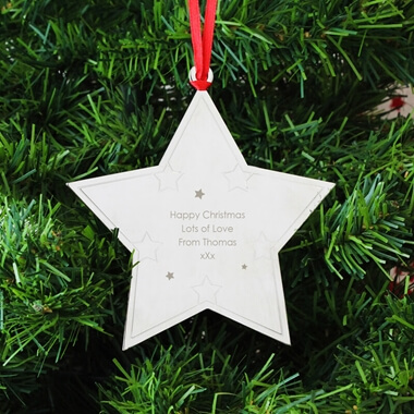Personalised Star Tree Decoration