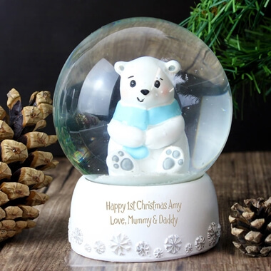 Personalised Polar Bear Snow Globe