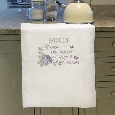 Personalised Secret Garden Tea Towel