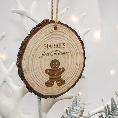 Personalised Gingerbread Man Hanging Decoration