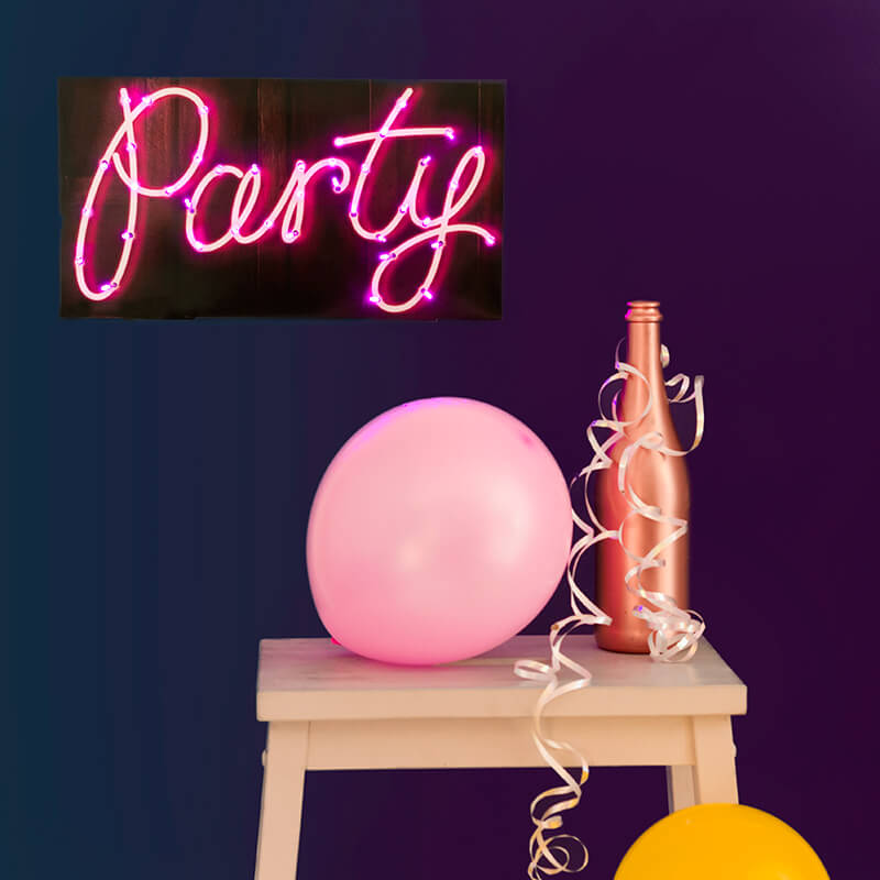 LED Party Sign