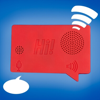 Hi! Voice Recorder Fridge Magnet