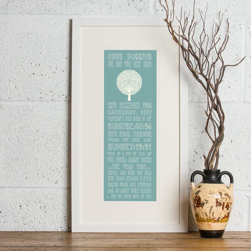 Personalised 30th Birthday Print