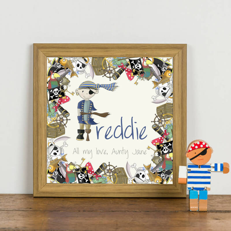Personalised Pirate Initial  Framed Print