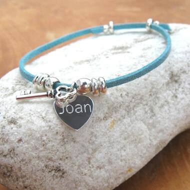 Personalised Suede Key Bracelet