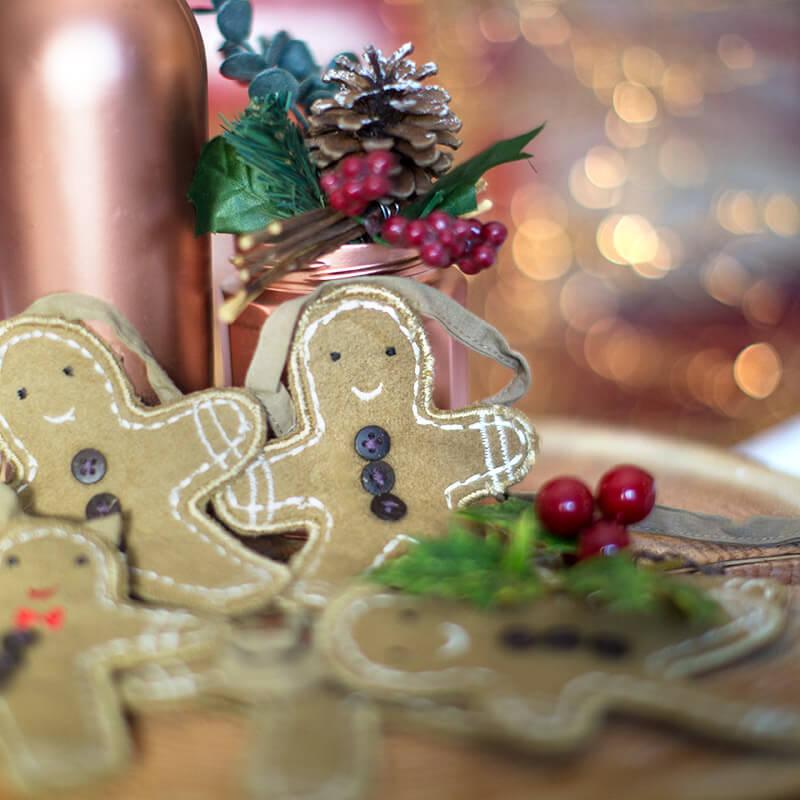 Gingerbread Man Bunting Garland