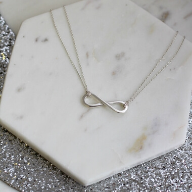Personalised Infinity Charm Necklace