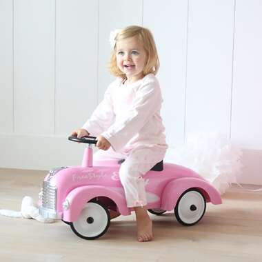 Personalised Pink Ride on Car