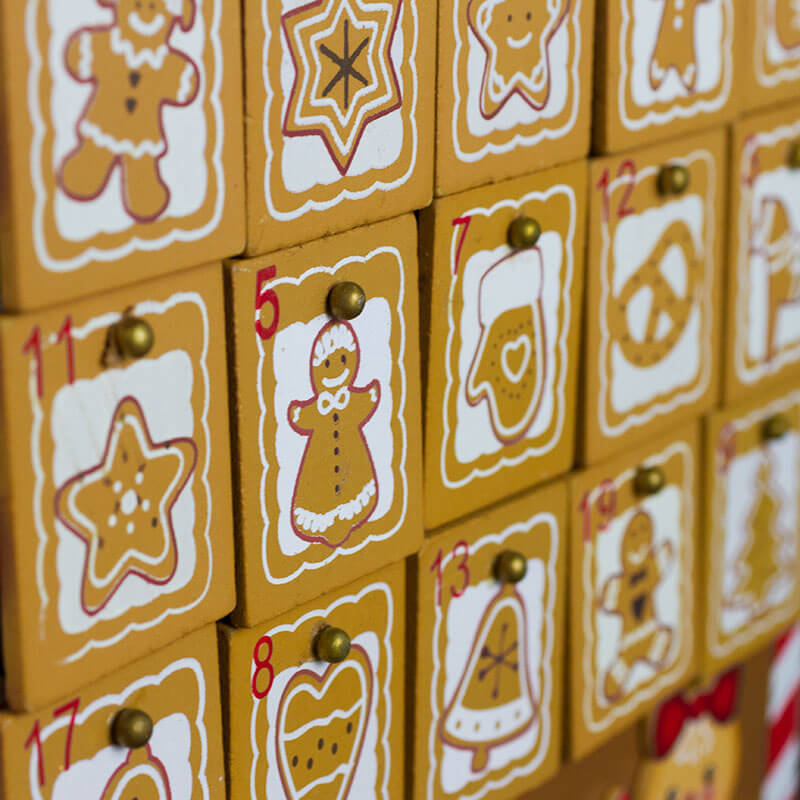 Gingerbread Man Advent Calendar