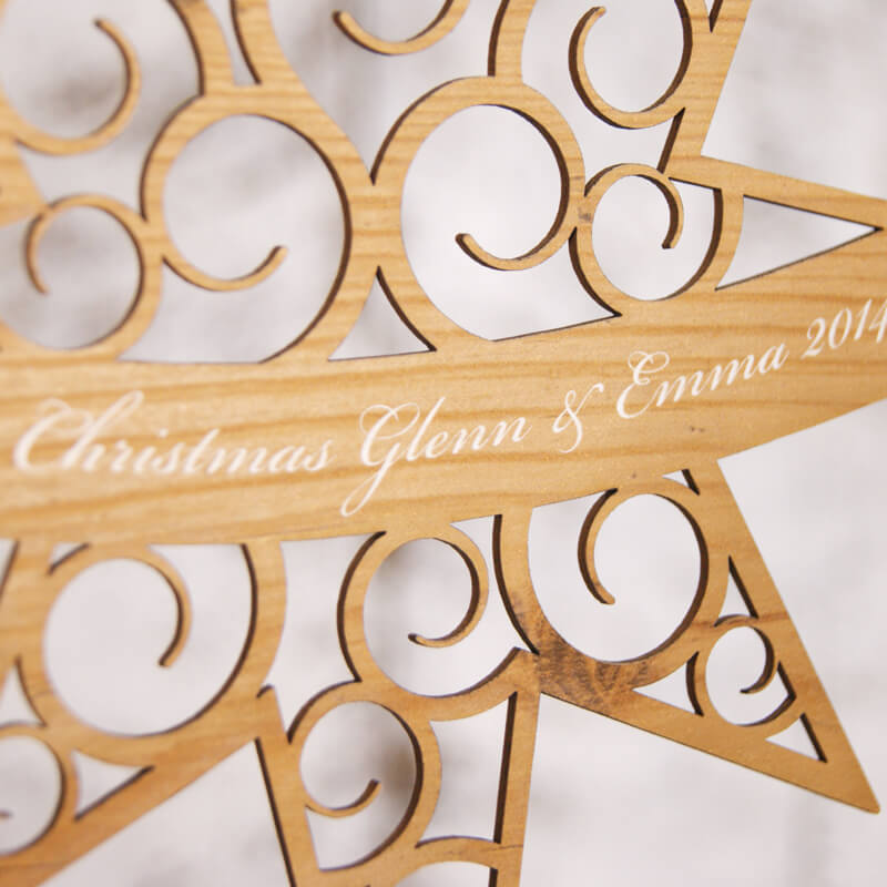 Personalised Star Christmas Decoration