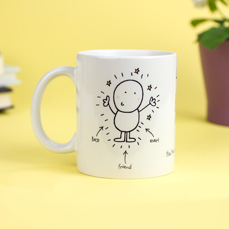 Personalised Chilli & Bubbles Mug - Best Friend
