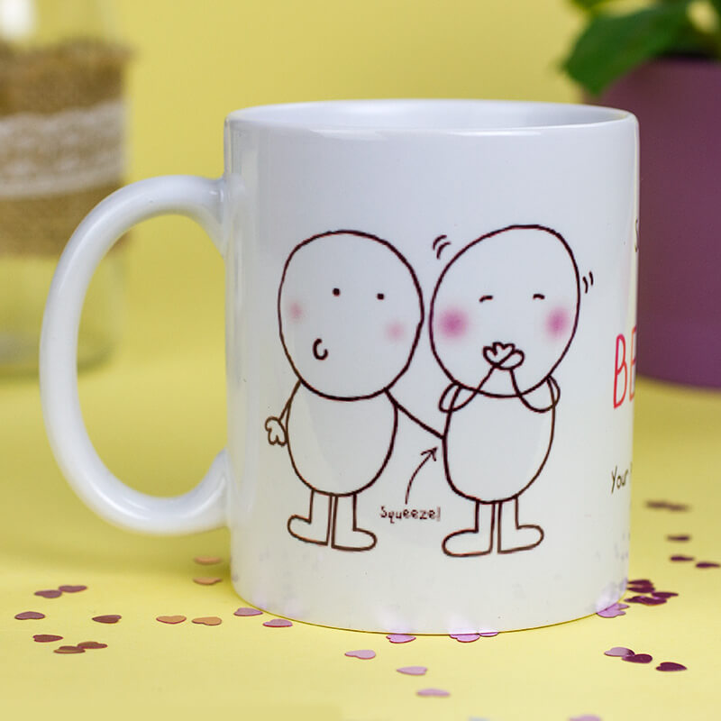 Personalised Chilli & Bubble's Mug - Best Boyfriend