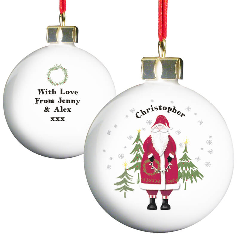 Personalised Father Christmas Bauble