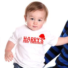 Personalised 1st christmas Tee & Hat