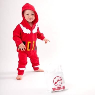 Santa Onesie & Personalised Sack