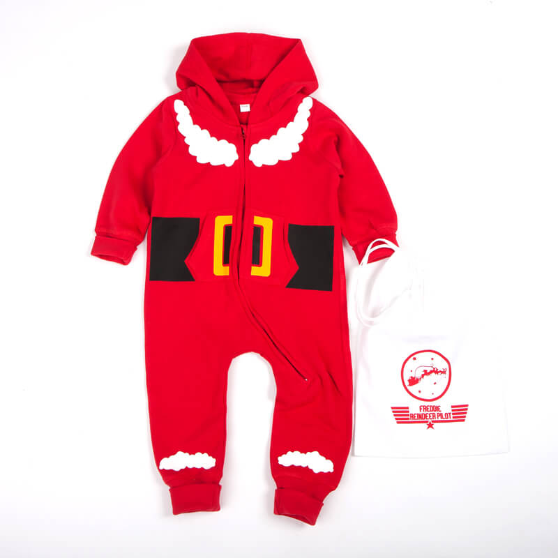Santa Onesie & Personalised Sack