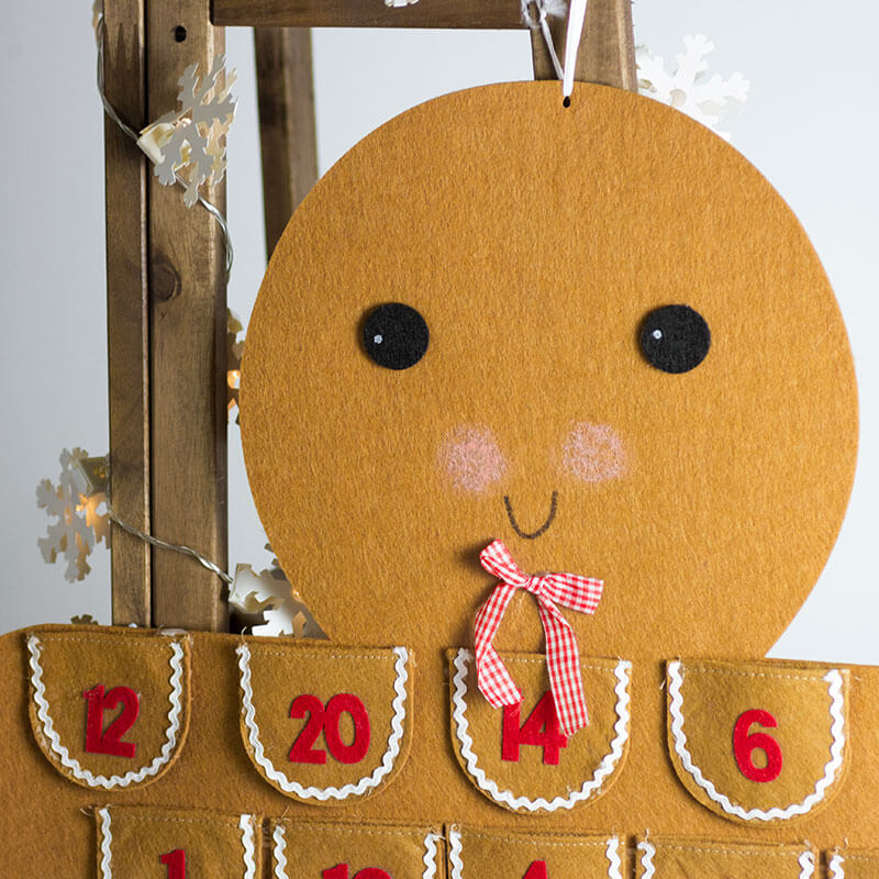 Gingerbread Man Hanging Advent Calendar