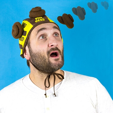 Poo Head - Velcro Cap Poo Flinging Game