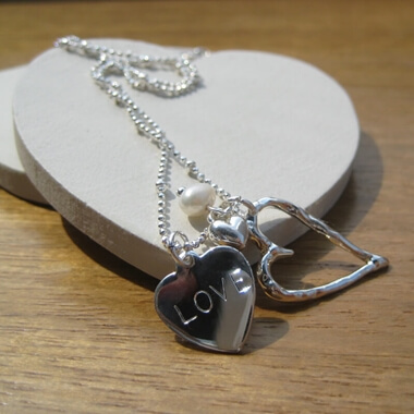 Personalised Open Heart Charm Necklace