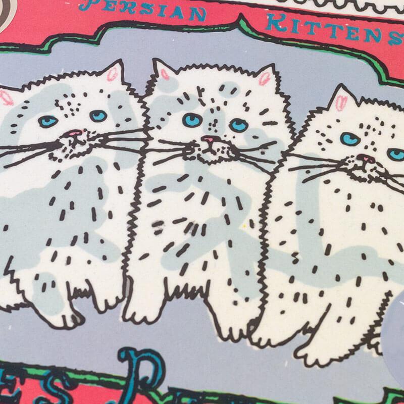 1st Class Persian Kittens Bamboo Tray