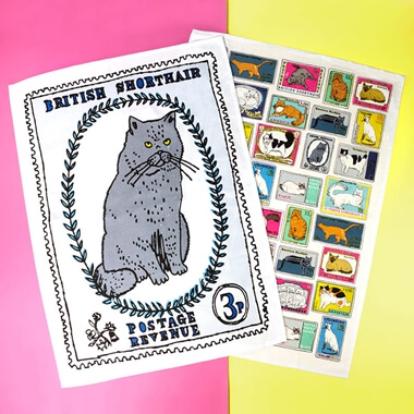 1st Class Cats Tea Towel Duo