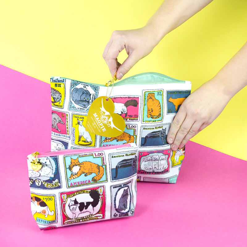 1st Class Cats Wash And Make Up Bag Set