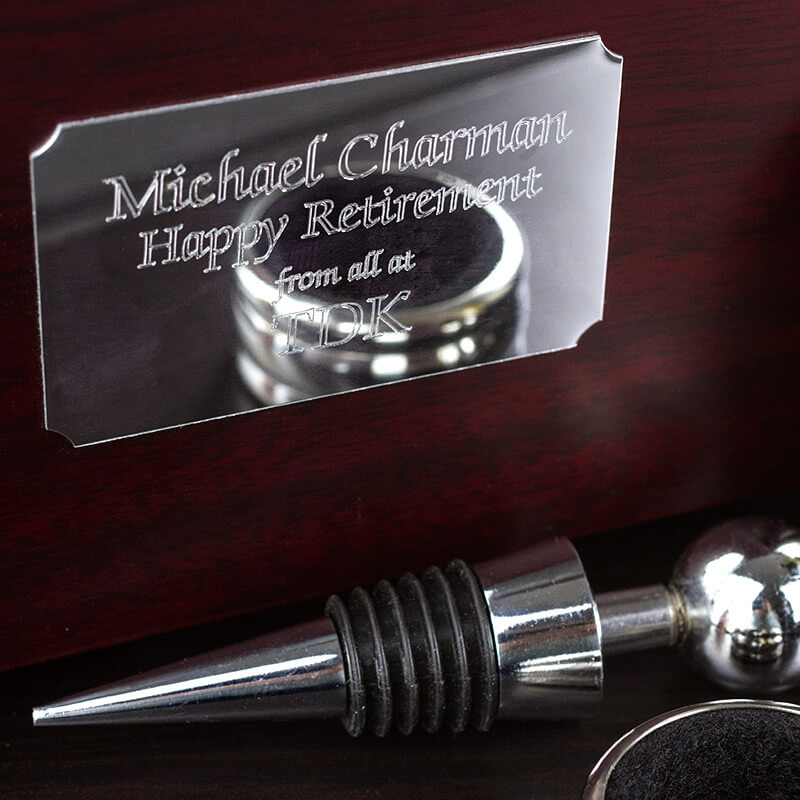 Personalised Wine Bar Gift Set