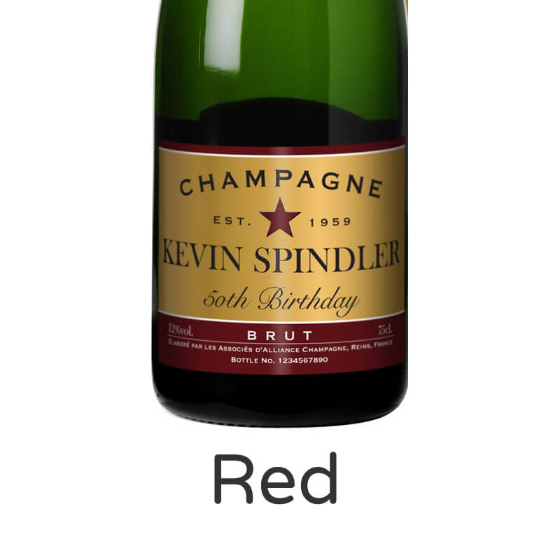 Personalised Champagne - Birthday