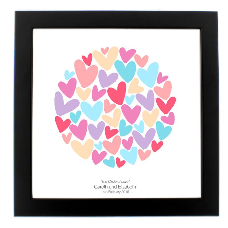 Personalised Circle Of Love Print