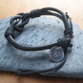 Personalised Leather Knot Bracelet